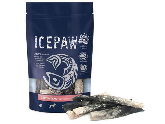 Skóra z łososia dla psa suszona i zwijana ICEPAW Lachssticks