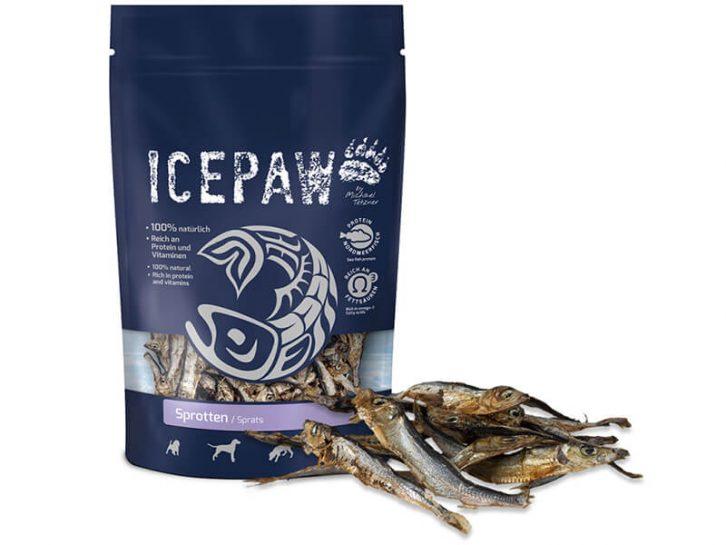 Suszone szprotki dla psa ICEPAW Sprotten