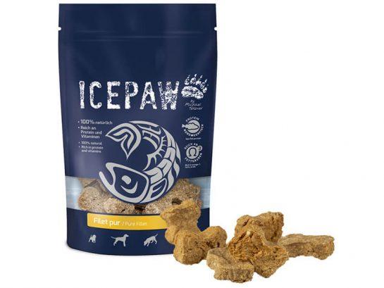 Naturalne przysmaki z ryby dla psa ICEPAW Filet Pur
